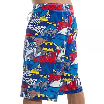 Batman Comic Print Men's Boardshorts