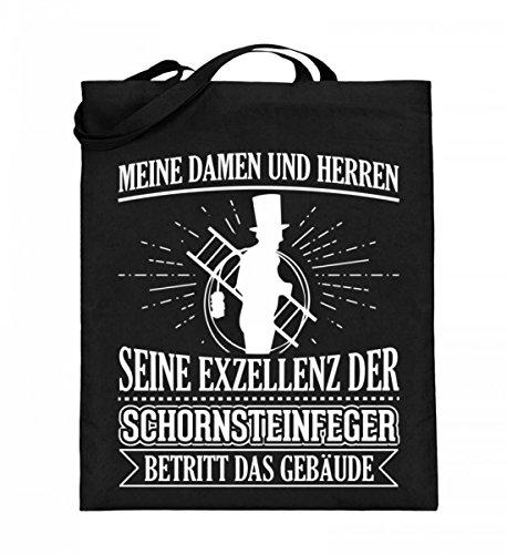 Hochwertiger Jutebeutel (mit langen Henkeln) - Ideal für jeden Schornsteinfeger! Schwarz I7o4CW1