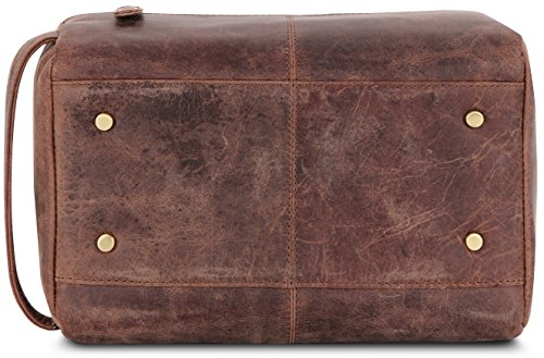 LEABAGS Palm Beach genuine buffalo leather toiletry bag in vintage style - Nutmeg by LEABAGS (Image #8)