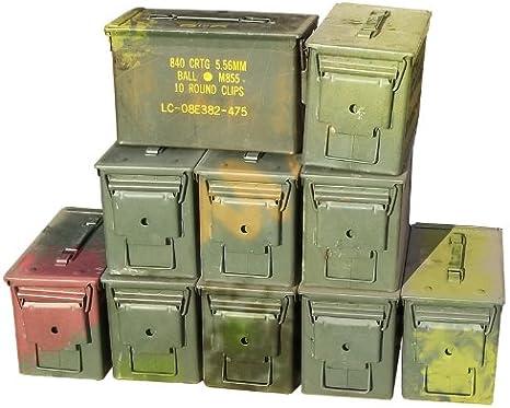 Militares de Estados Unidos M2 A1 50 Cal munición latas (10 ...