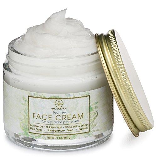 Tea Tree Oil Face Cream  For Oily Acne Prone Skin Care Natural  Organic Facial Moisturizer with 7X