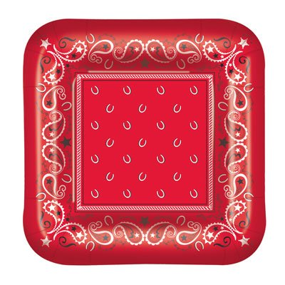 Western Bandana Dessert Plates (3 Pack)]()