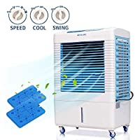 DUOLANG 2647 CFM Indoor Outdoor Evaporative Air Cooler – 3 Modes/Speeds Portable Air Conditioner Swamp cooler with Fan & Humidifier for 322.9 sq. ft. – DL-4502