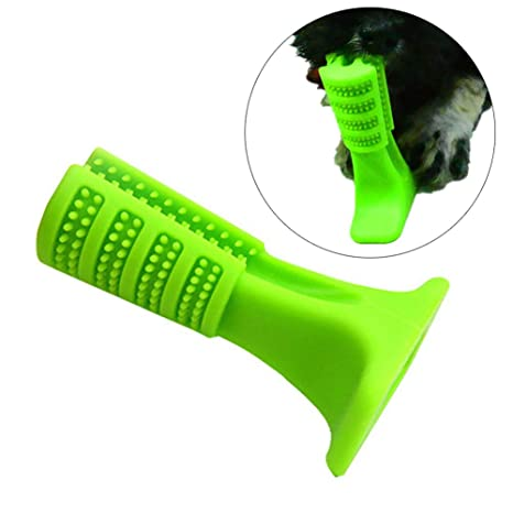 FEIDAjdzf Juguete para Mascota, Forma de Hueso, Cepillo de Dientes para Perro, Cepillo