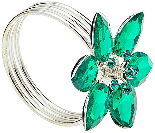 Anel De Guardanapo Holanda Mimo Style Verde/prata