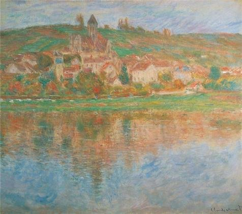 Oil Painting 'Vetheuil, 1901 By Claude Monet', 24 x 27 inch / 61 x 69 cm , on High Definition HD canvas prints is for Gifts And Foyer, Game Room (Halloween Talking Flashcards)