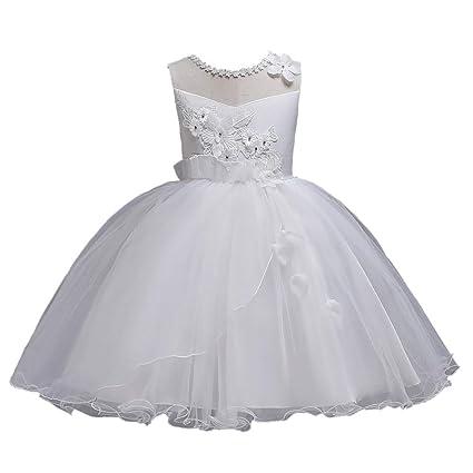 GHTWJJ Vestidos De Noche De Niña Vestido De Fiesta De Princesa De Boda Vestido De Fiesta