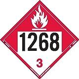 Labelmaster ZT9-1268 UN 1268 Combustible Liquid Hazmat Placard, Tagboard (Pack of 25)