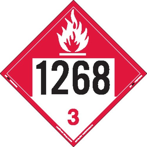 Labelmaster ZT9-1268 UN 1268 Combustible Liquid Hazmat Placard, Tagboard (Pack of 25) by Labelmaster®