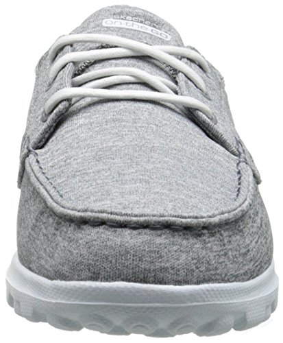 Shoe Charcoal On On Flagship Boat Slip Women's Skechers Heather The Go Performance 0Unwqz