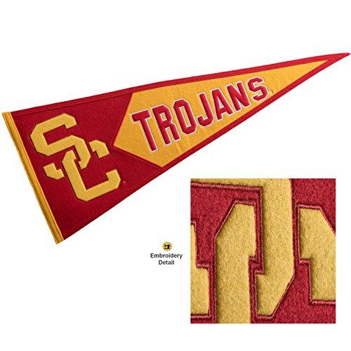 (Winning Streak USC Trojans Wool Embroidered and Sewn Pennant)