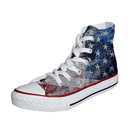 Converse All Star zapatos personalizadas Unisex (Producto Customized) USA Old