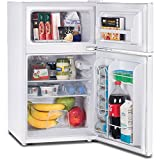 Commercial Cool CCRD32W Compact Double Door Refrigerator with...