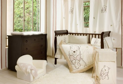[Winnie the Pooh] 4 Pc Crib Bedding Set Crib Bedding Collection (Bumper) by Blancho