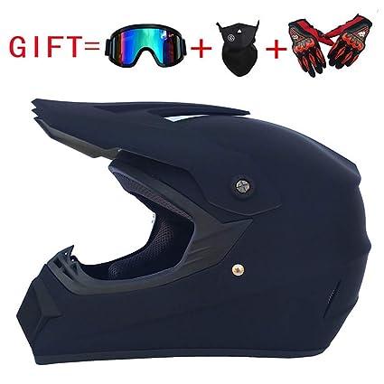 Mountain Locomotive Four-Wheeled Off-Road Vehicle DOT Certified Helmet ,S Glove Mask Goggles Set of 4 Motocross Helmet