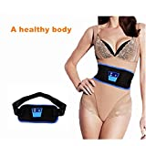 electronic belly fat burner - AB massage belt rejection fat belt to reduce weight thin body electronic waist belt physiotherapy instrument PVC small oil massage belt Belly ,Burner Weight Loss Belt