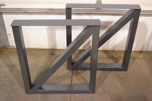 Metal Table Legs, Rectangular Cross Brace Style - Any Size and Color!