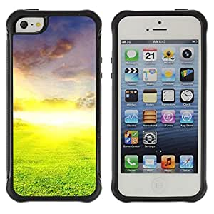 Suave TPU Caso Carcasa de Caucho Funda para Apple Iphone 5 / 5S / Nature Beautiful Forrest Green 26 / STRONG