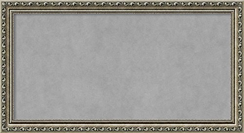 Amanti Art Medium, Outer Size 27 x 15 Parisian Silver Framed Magnetic Boards, 24x12