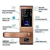 AIGURD Biometric Smart Fingerprint Door Lock Open