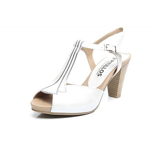Charol MujerColor Plata Sandalia Vivos Zapatos Pitillos 1285 5AjLc3Rq4