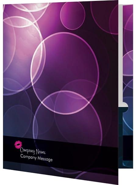 amazon com vistaprint black passion party folders office products