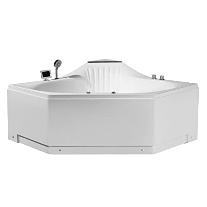 ARIEL Platinum PW1685959CW1 Whirlpool Bathtub 59u0026quot; X 59u0026quot; X  31u0026quot; ...