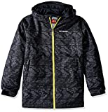 Columbia Boys Wrecktangle Jacket, XX-Small, Black Matrix Print