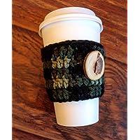 Buffalo Plaid Coffee Cozy - Coffee Warming Sleeve - Mug Cozy - Reusable Coffee Sleeve - Handmade Plaid Coffee Cup Sleeve