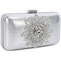 Chichitop Women's Elegant Sunflower Crystal Evening Party Wedding Handbag