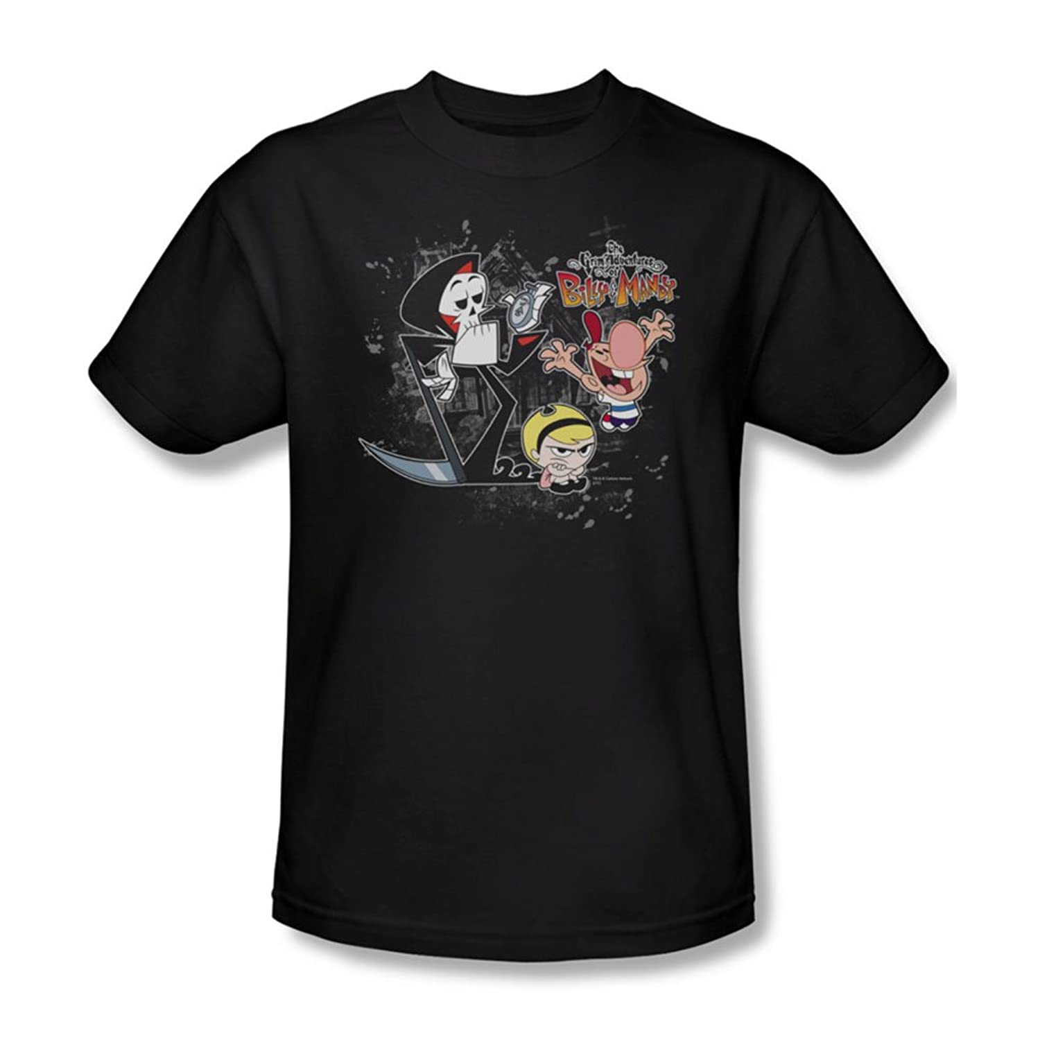 Billy & Mandy - Mens Splatter Cast T-Shirt