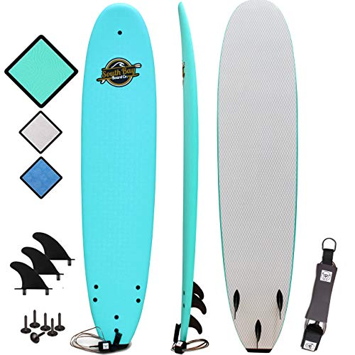 Soft Top Surfboard - Best Foam Surf Board for Beginners, Kids, and Adults - Soft Top Surfboards for Fun & Easy Surfing - 7' Ruccus, 8' Verve & 8'8 Heritage Surfboards All Wax-Free (Best Soft Top Surfboard)