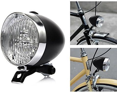 P&T - Faros Delanteros para Bicicleta (LED, 180 lúmenes, Estilo ...