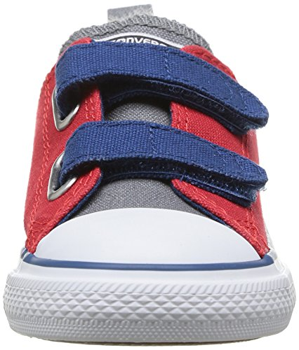 Converse Chuck Taylor All Star 2V Ox - Zapatillas de Deporte de canvas Infantil Rojo - Rouge (Rouge/Gris/Marine)