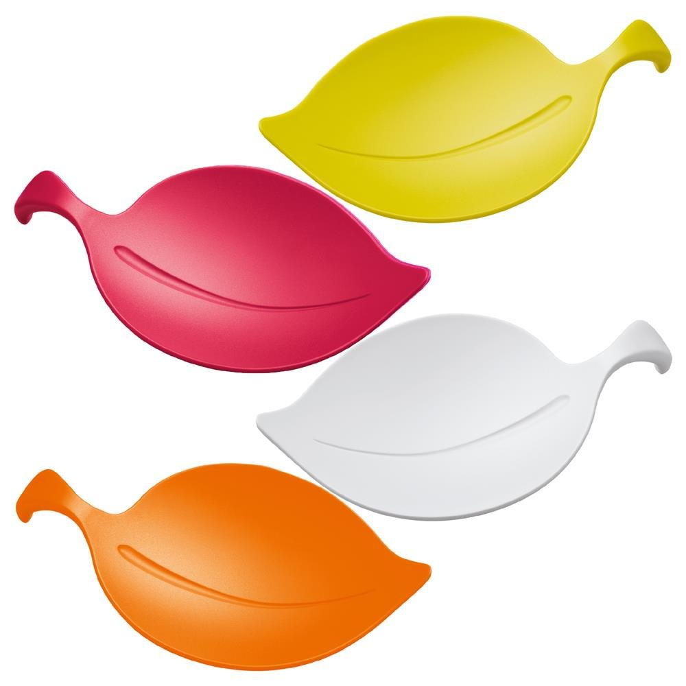 Koziol Leaf On Appetizer Bowl, Set of 4, Colors May Vary