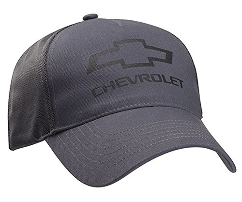 (Chevrolet Bowtie Gray Twill Mesh Hat Gray One Size )