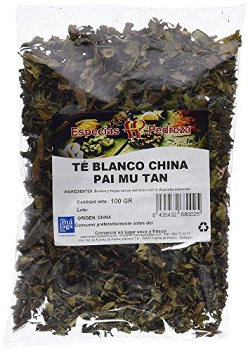 Especias Pedroza Te Blanco China Pai Mu Tan - 5 Paquetes de 100 gr - Total 500 gr