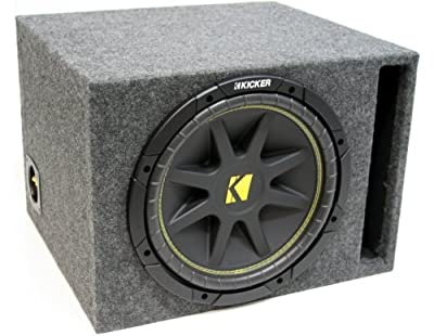 "ASC Package Single 15"" Kicker Sub Box Vented Port Subwoofer Enclosure C15 Comp 500 Watts Peak from American Sound Connection"