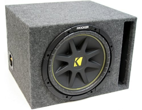 ASC Package Single 12 Kicker Sub Box Vented Port Subwoofer Enclosure C12 Comp 300 Watts Peak