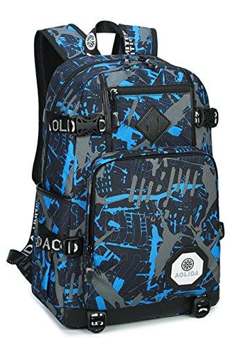 Schulerucksack + Schulterrucksack Sport Brust Sling Tasche Rucksäcke Daypacks for Herren Teenager uxlfTvgR