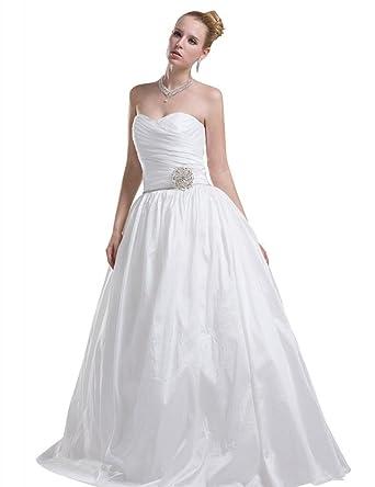 GEORGE BRIDE Abnehmbaren Rock Taft mit Metallblumen Hochzeitskleid ...