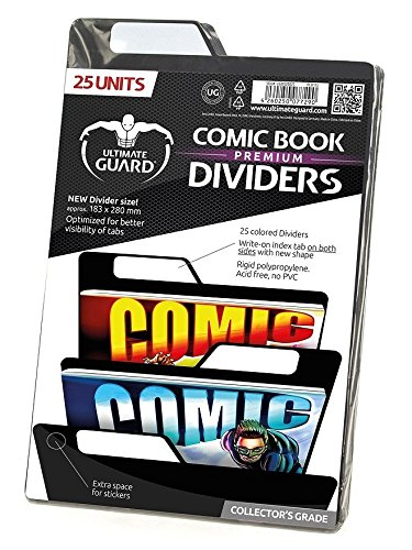 Ultimate Guard Premium Comic Dividers Card Sleeves (25 Piece), Black by Ultimate Guard
