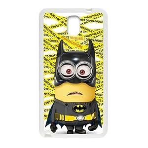 Cute Yellow Minion Bat Man White Samsung Galaxy Note3 case
