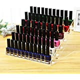 Cq acrylic 48 Bottles of 6 Layers Nail Polish Rack-Clear Nail Polish Display,Just Stand on the Table or Desk,11.5x9.5x7.5 inch,Pack of 1