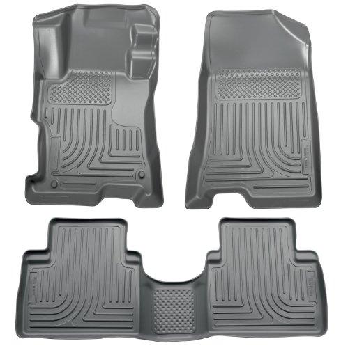 Front 4 Tan Floor Door (Husky Liners Front & 2nd Seat Floor Liners Fits 08-12 Accord 4 Door)
