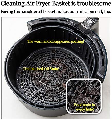 Balsang Pot - Replacement for Paper Liners, No More Harsh Cleaning The Air Fryer Basket, Food Safe Silicone Material, Patent Pending Air Fryer Accessory (L - 19cm in Diameter)