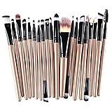 20pcs Glitter Makeup Brush Set, callm Makeup Brushes Kit Foundation Brush Powder Brush Cosmetic Brush Makeup Tool Eyeshadow Concealer Make Up Brush (gold)