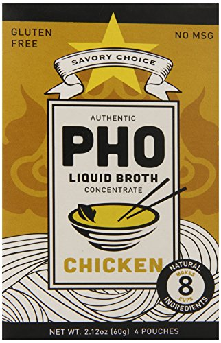 Savory Choice Pho Liquid Broth Concentrate, Chicken, 2.12 Ounce (Pack of 12) (Savory Choice Chicken Broth compare prices)