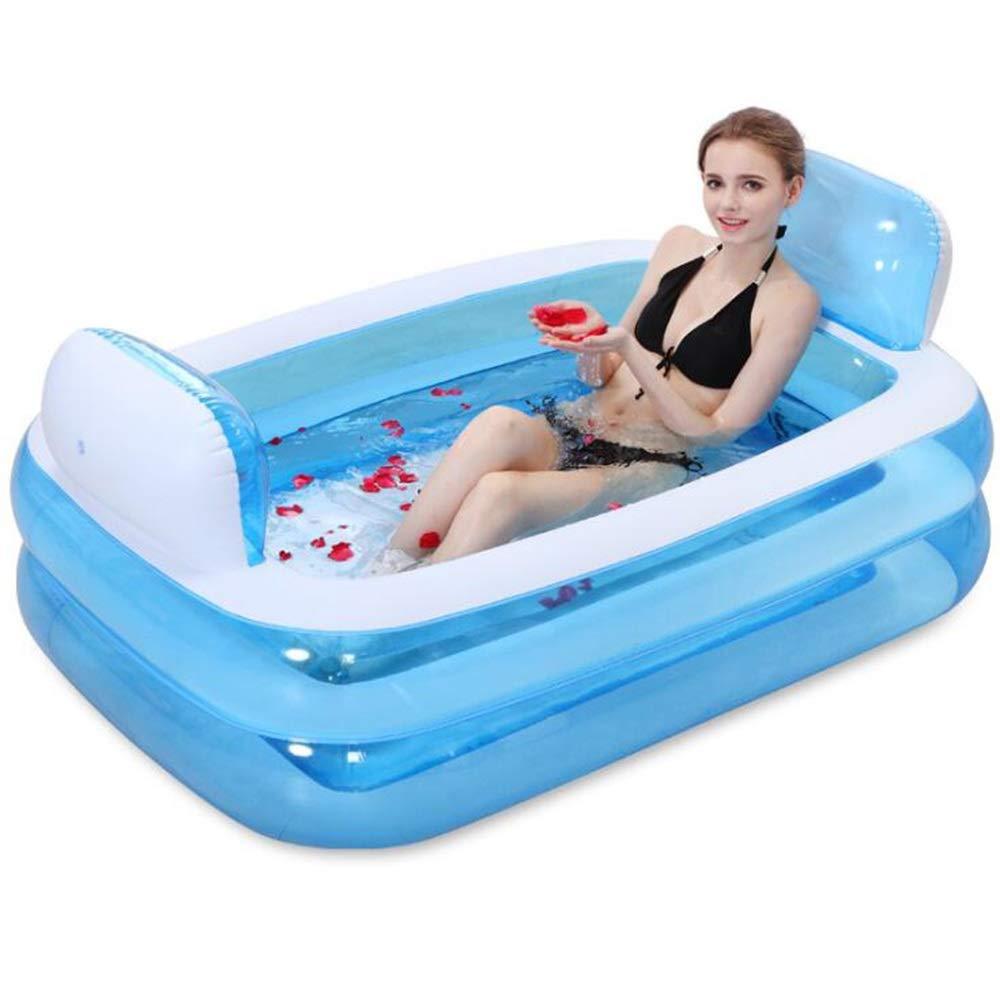 HHL Erwachsene Erwachsene Erwachsene Aufblasbare Badewanne Größe Doppelwanne Faltende Badewanne Schwimmbad, Komfortables Bad, Qualität Badewanne, Blau 313c1d