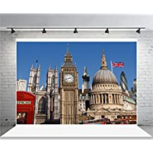 AOFOTO 7x5ft London Big Ben Photography Background Uk City Architecture Backdrop Vintage Cathedral Lovers Adult Artistic Portrait England Trip Photoshoot Studio Props Video Drape Wallpaper